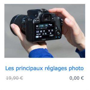 Cours photo gratuit